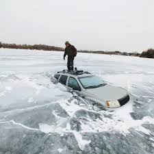 Driving on Frozen Lakes